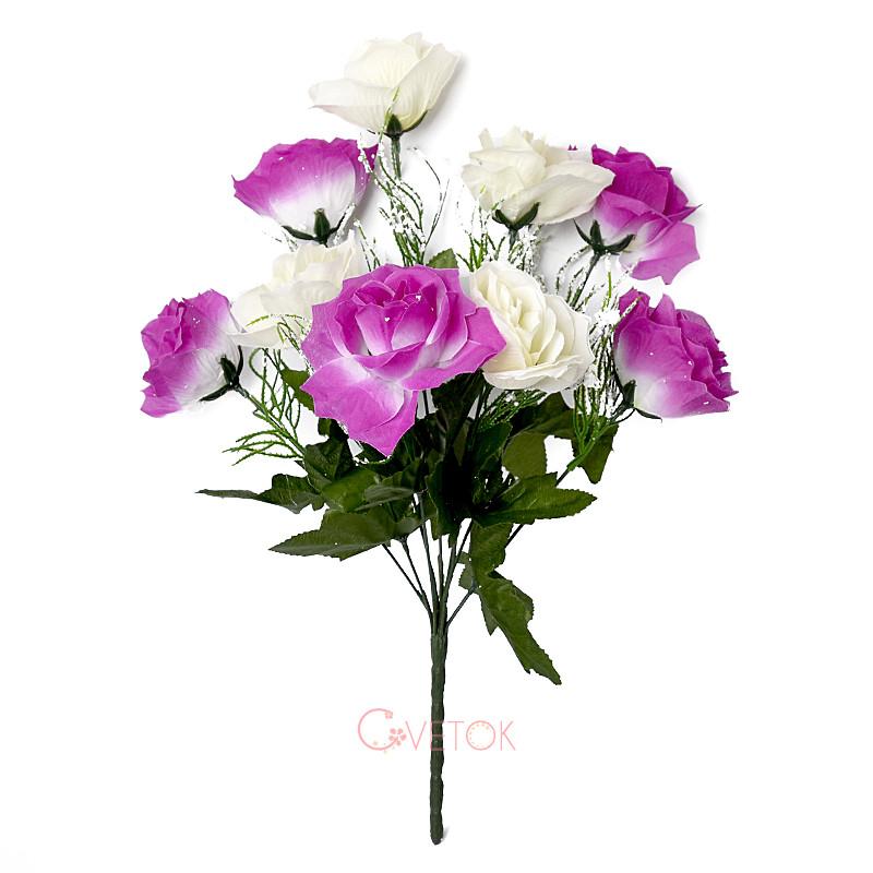 Букет розы двухцветной M-3