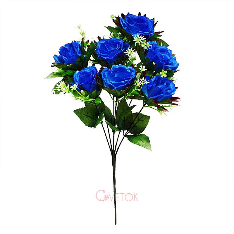 Букет розы искусственный с кантом M-56