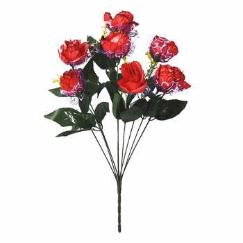 Букет розы искусственный с фатином C-23