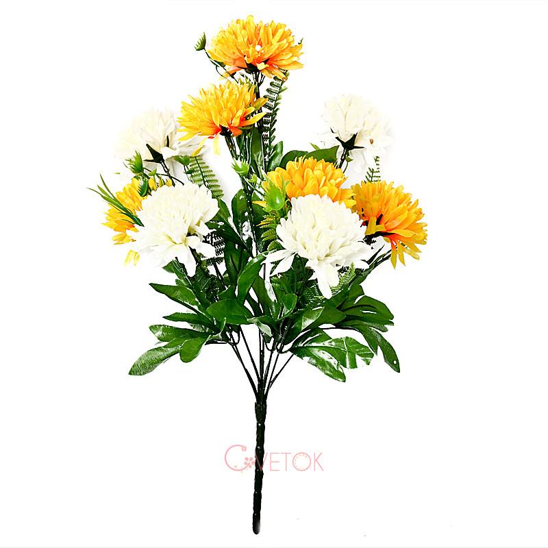 Букет хризантемы искусственный M-9