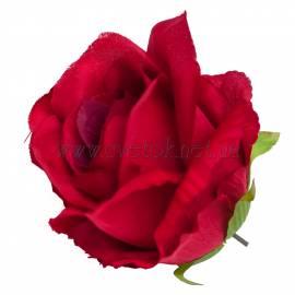 """J025-d Роза""""Полячка""""из плотного бархата"""
