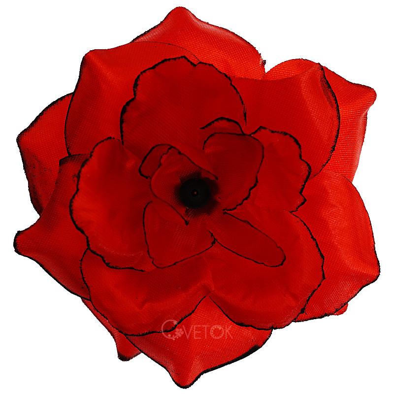 Голова розы атласной искусственная R-8