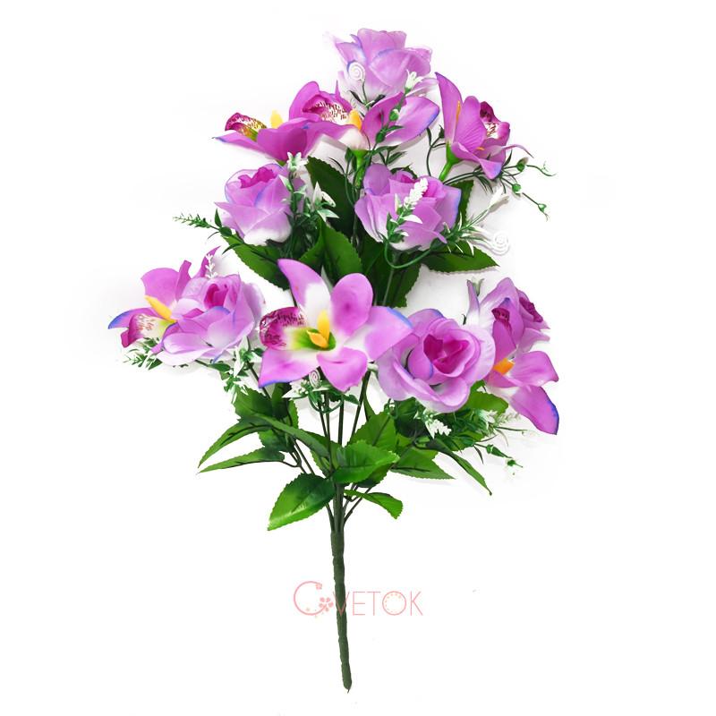 С-16-79/12 Букет розы и орхидеи