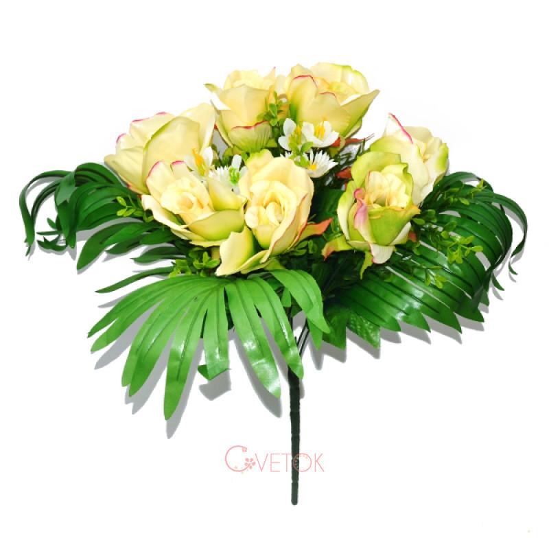 С-17-83/7 Букет роз с пальмой