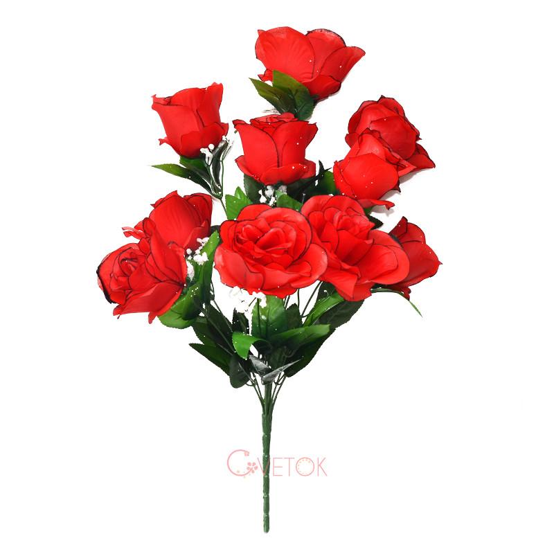 Букет розы с белой добавкой C-33