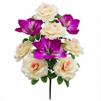 Букет розы с лилией C-46