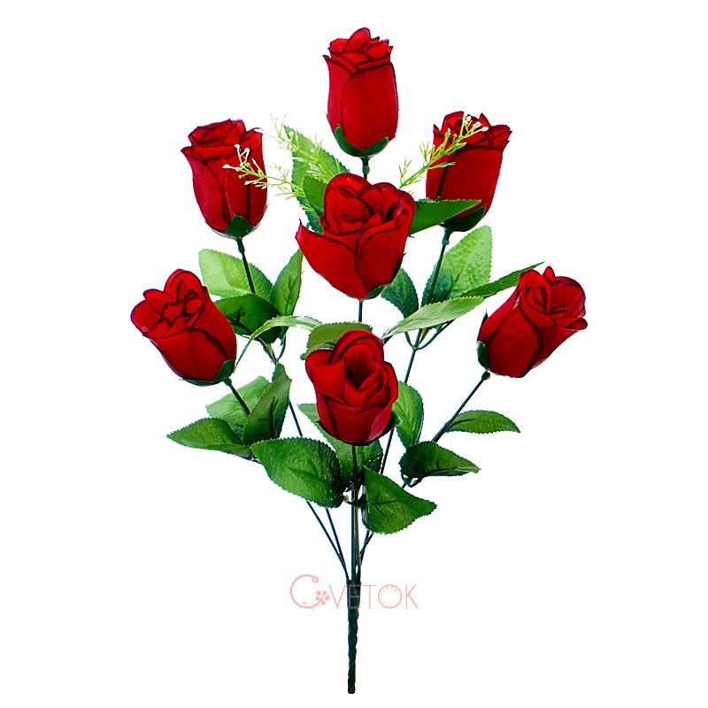 Букет розы искусственный бутон C-49