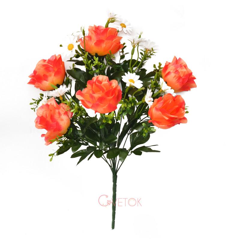 Букет розы с ромашкой C-52