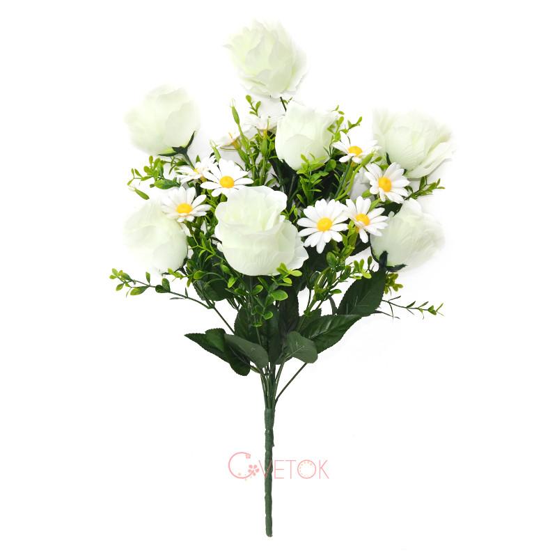 С - 52/12 роза с ромашкой