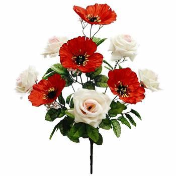 Букет розы и мака A-091