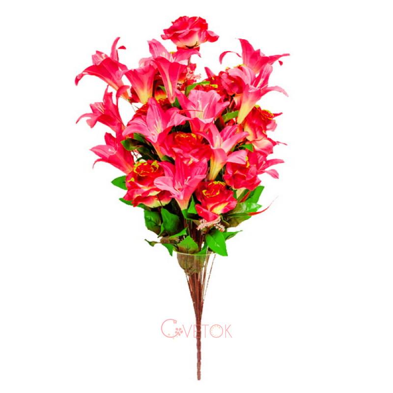 Букет розы с лилией B-141