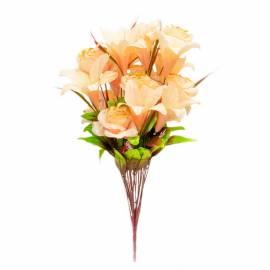В-142/18 Букет роза из атласа с лилией
