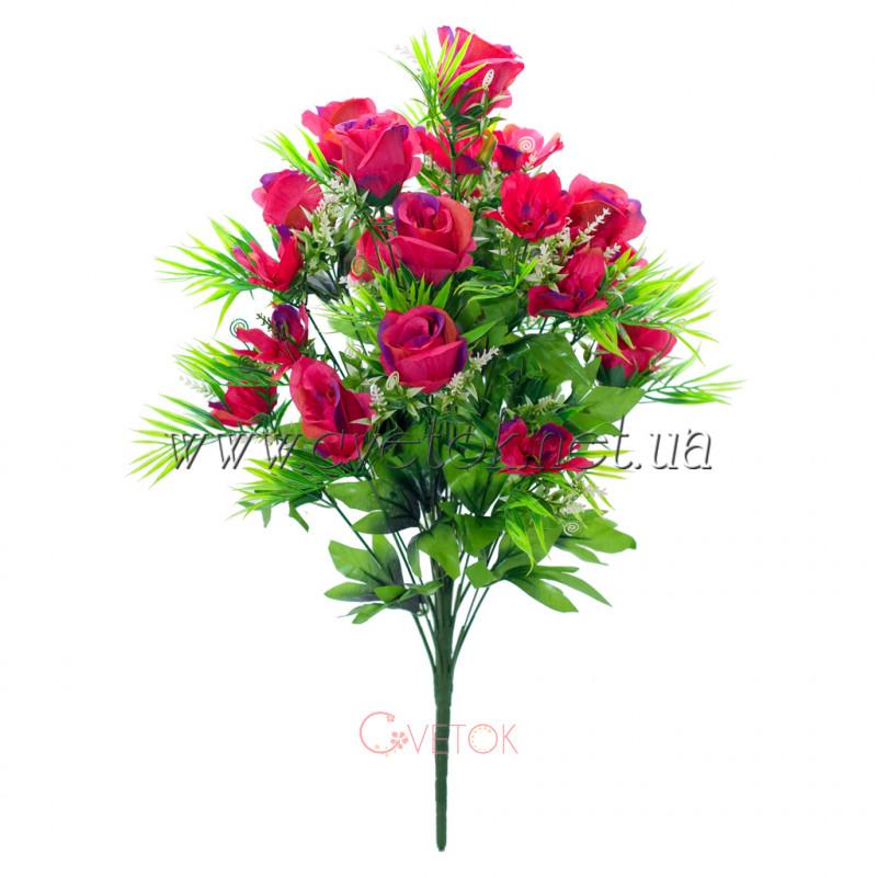 С-16-78/24 Каскадный букет роз и ромашек
