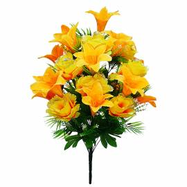 Букет розы искусственный с лилией C16-73