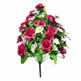 Букет роза с ромашками искусственный C-58