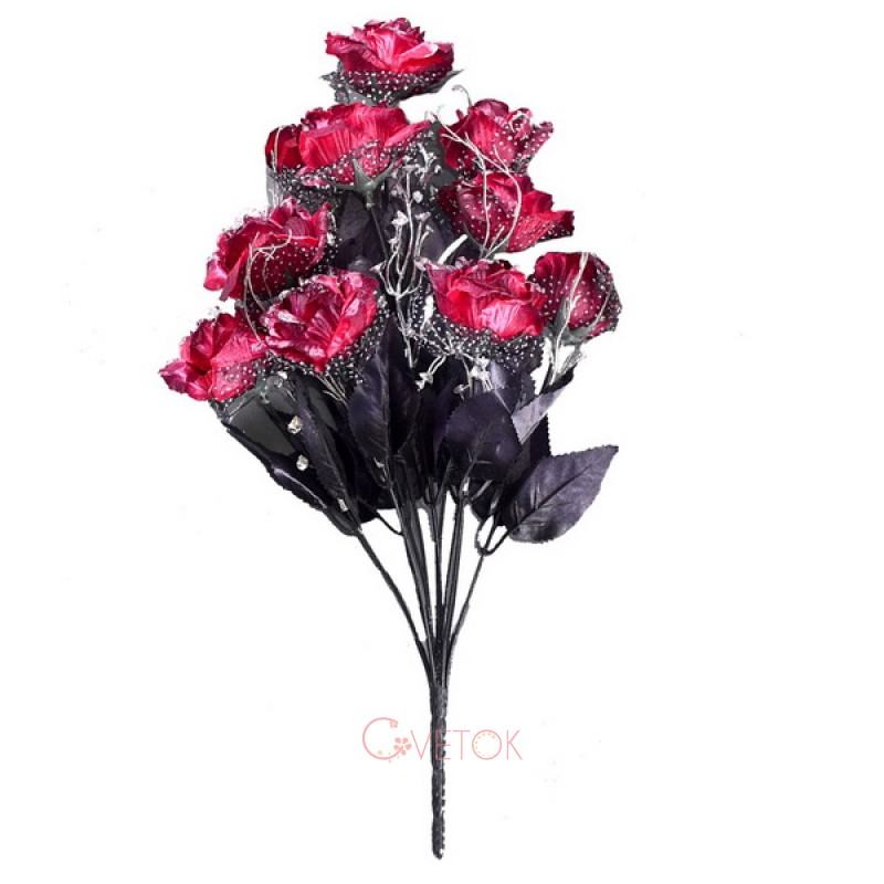 М-39/12 Роза раскрытая темная