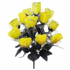 Букет розы темной M-46