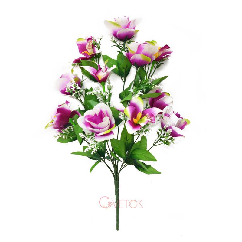 Букет розы и орхидеи искусственный C16-79